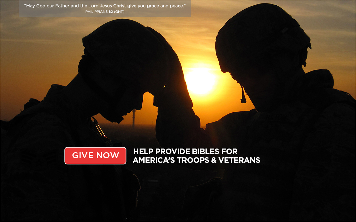 Help provide Bibles for American's troops and veterans >
