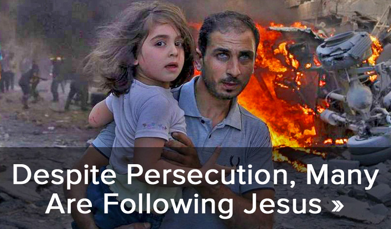 Despite persecution, many are following Jesus >