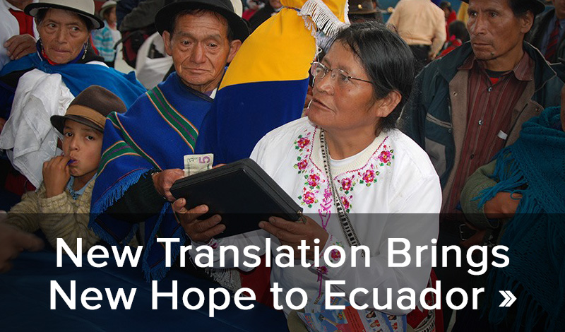 New translation brings new hope to Ecuador >