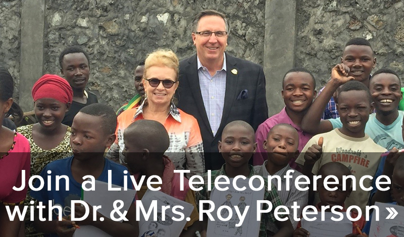 Join a live teleconference with Dr. & Mrs. Roy Peterson >