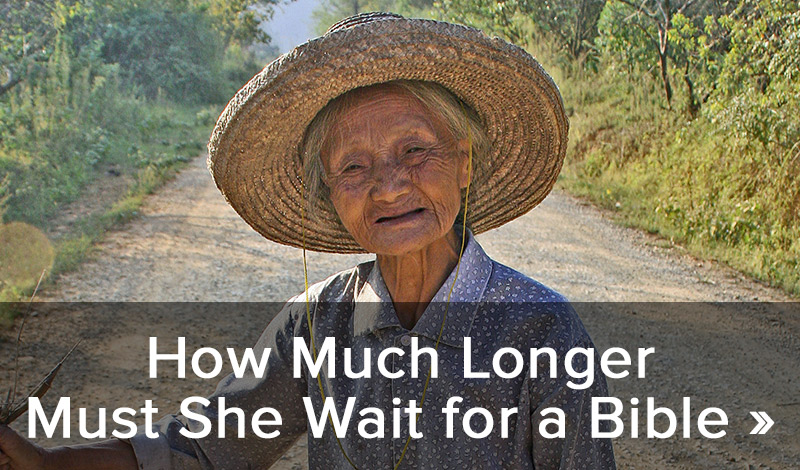 How much longer must she wait for a Bible >