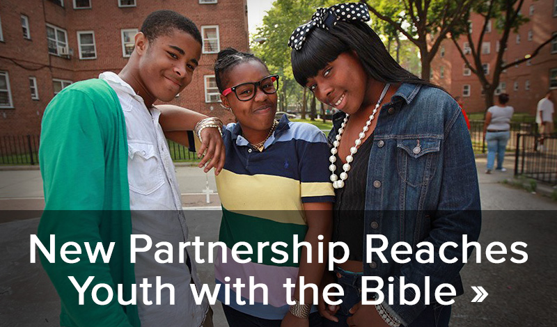 New partnership reaches youth with the Bible >