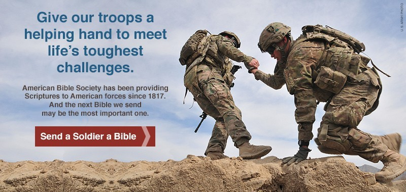 Give the Hope of God's Word to our Troops